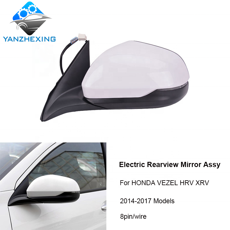 Right Side Black Automatic Folding Rearview Mirror For Honda VEZEL 14 15 16 17 x