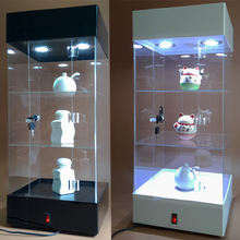 Acrylic LED light display rack transparent rotating display cabinet