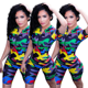 2020 hot selling MK8845 army camo ski women bodycon jumpsuit