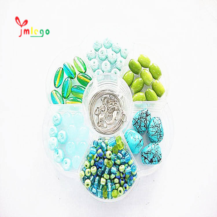 Wholesale high quality practical jewelry finding set hot selling assorted color beads craft making sets
