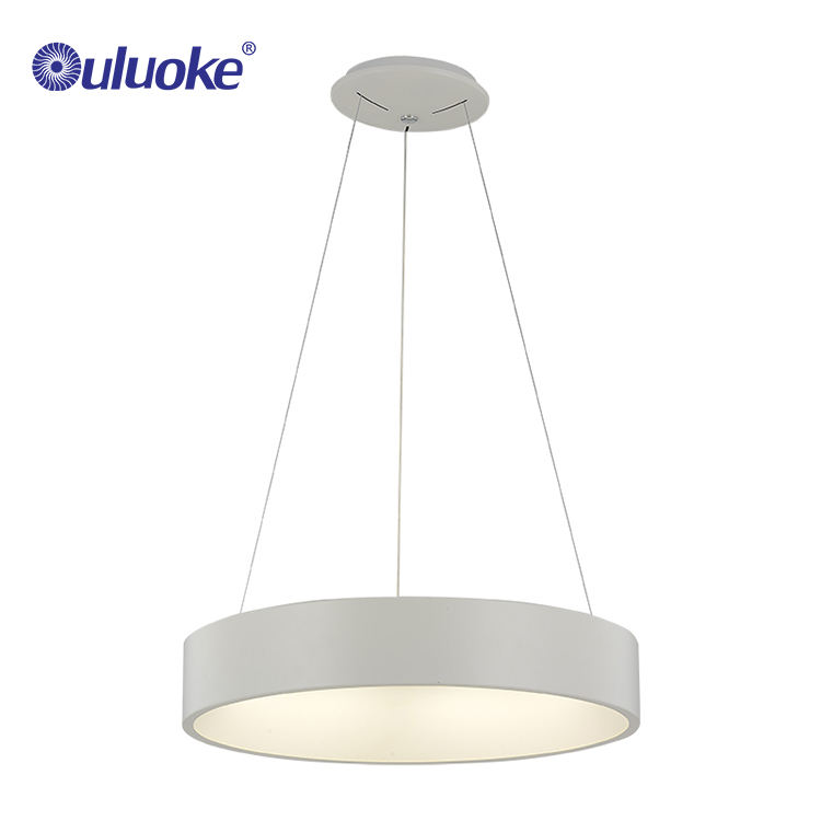 Modern adjustable one ring pendant lamp LED aluminum acrylic hanging chandeliers lighting