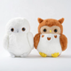 Round Stuffed Animal Soft Marshmallow Horned Snowy Barn Owl Plush Toy Wholesale
