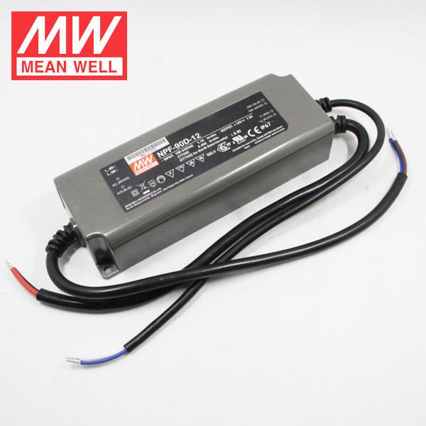 Meanwell Su Geçirmez Elektronik LED Sürücü 90 W 30 V NPF-90-30 PFC Fonksiyonu Ile
