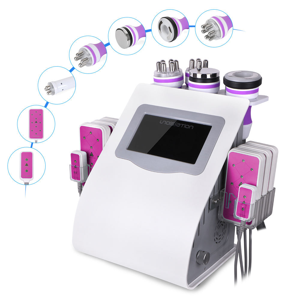 Multifunction Ultrasonic 6in1 Cavitation 2.0 RF Radio Frequency Fat Burning Wrinkle Reduce Machine