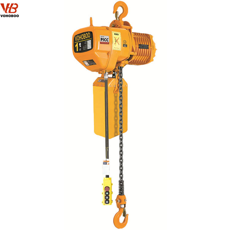 1ton electric chain hoist with heavy load chains/rack and pinion hoist