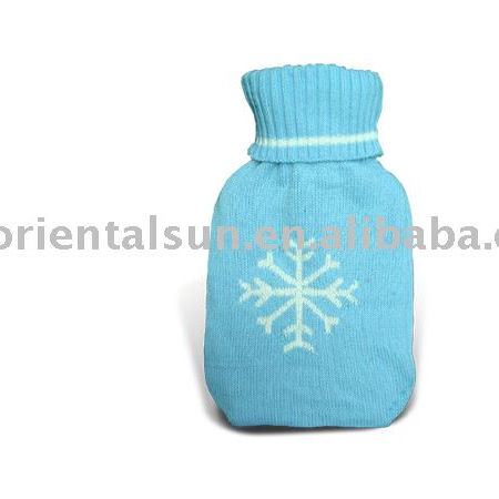 Hot Water Bottle Cover jacquard snow flake