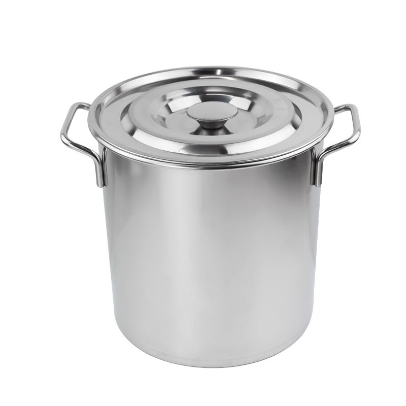 Commercial stainless steel big capacity kitchen soup stock cooking pot for Hotel restaurant