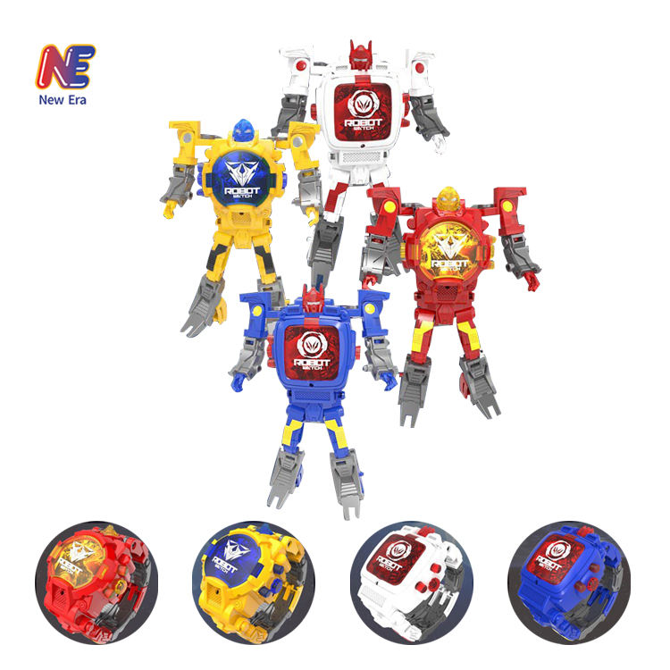 Electronic Transform Toys Deforma Robot Digital Watch Toys