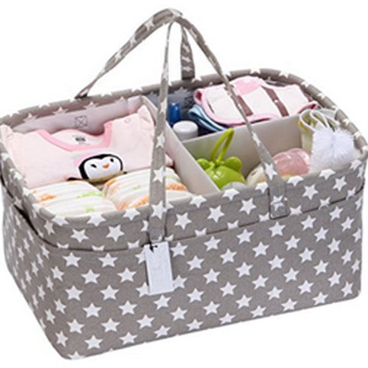 100% Cotton Canvas Multifunctional Mommy Baby Nursery Diaper Caddy Organizer Tote Bag