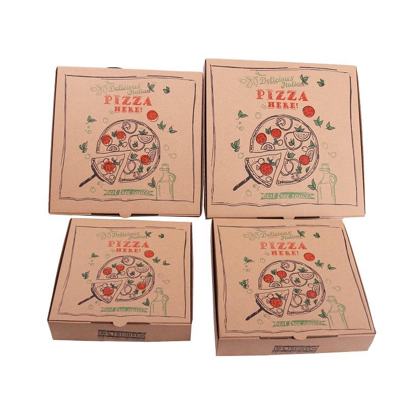 Горячая Распродажа пищевая упаковка гофрированные оптовые коробки для пиццы