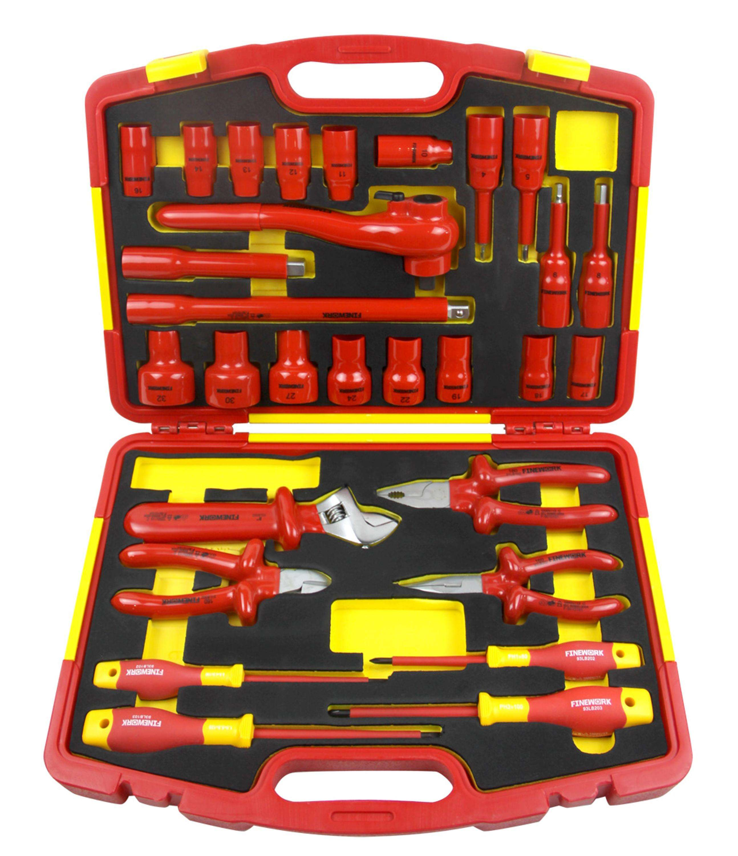 29PCS 1000V VDE Insulated Electric Hand Tool Box Set
