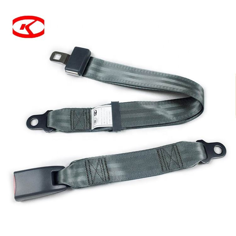 E4 Certified Tie Down Universal 2 Point Car Auto Van Truck Seat Lap Belt Adjustable Safety Buckle Seatbelt