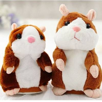2019 Cute Electronic Mimicry Pet Talking Hamster Repeats What You Say Plush Animal Toy For Kids Gift
