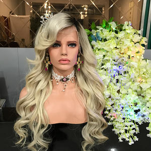 Glueless Blonde Wig Lace Front Human Hair Wigs With Black Roots Body Wave Ombre Lace Wigs With Baby Hair No Shedding