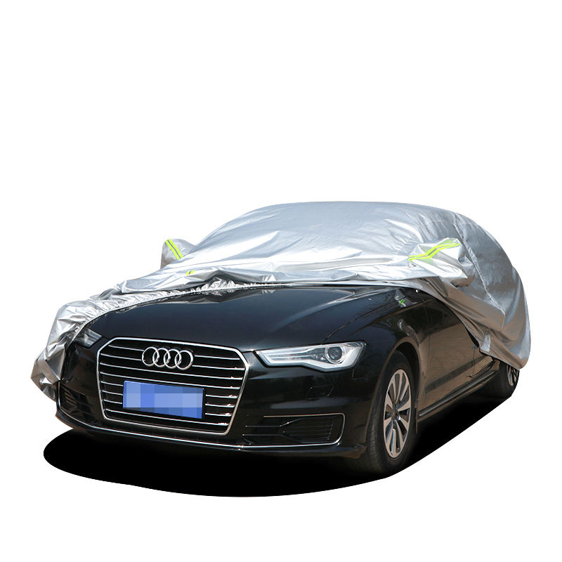 China Manufacturer 170T Silver Coated Polyester Taffeta Model S Car Cover