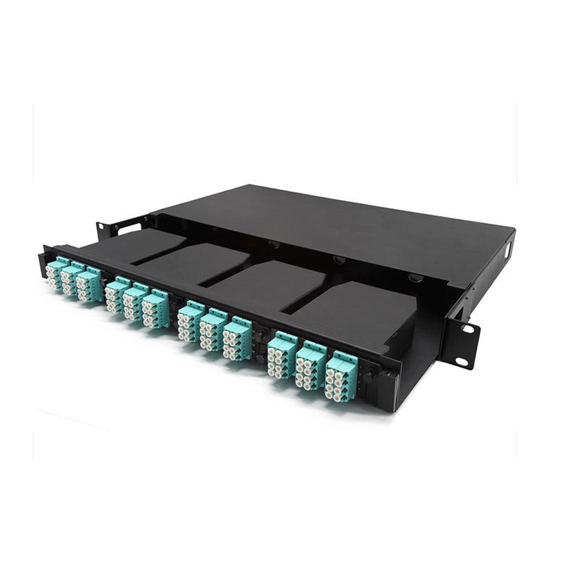 Portas de fibra óptica patch panel de distribuição 1U 24 ferramentas com 4 Adaptadores