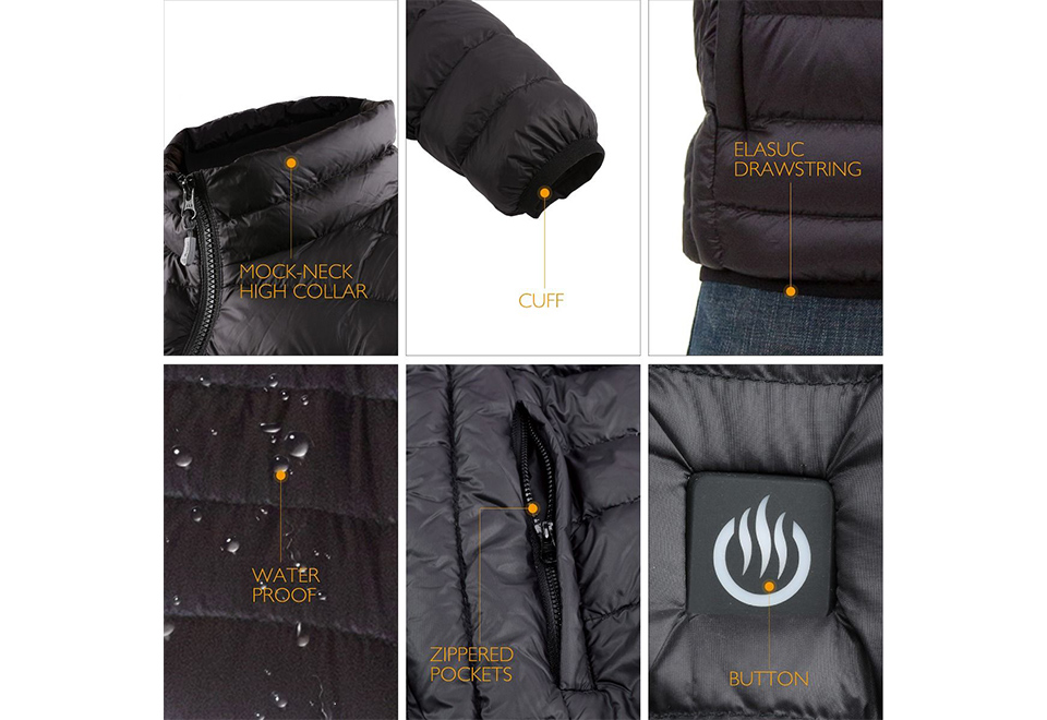 Most Popular Rechargeable Winter Warm Soft shell Battery Operated Heated Clothing for men