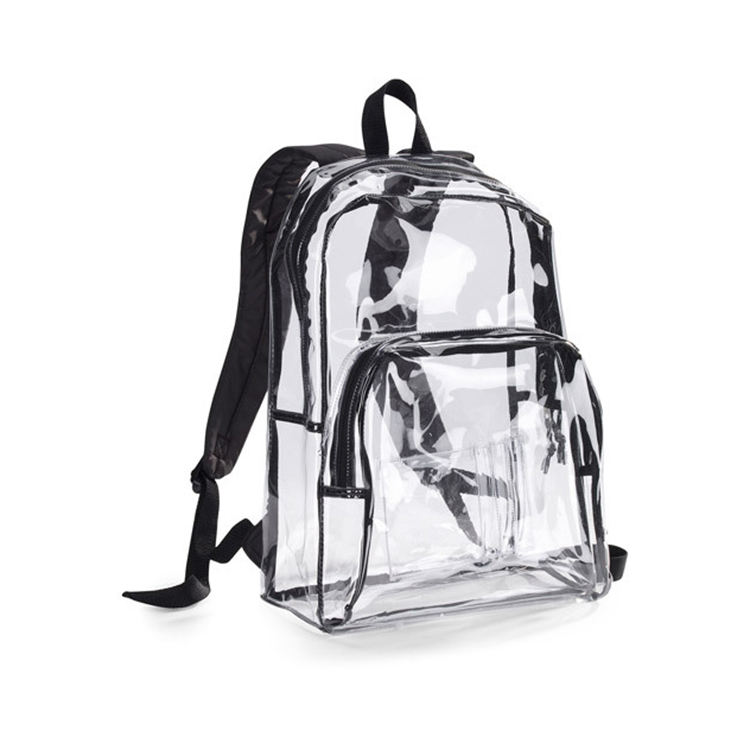 Transparent pvc school bag 50 silk thick backpack Amazon hot sale school pvc backpack