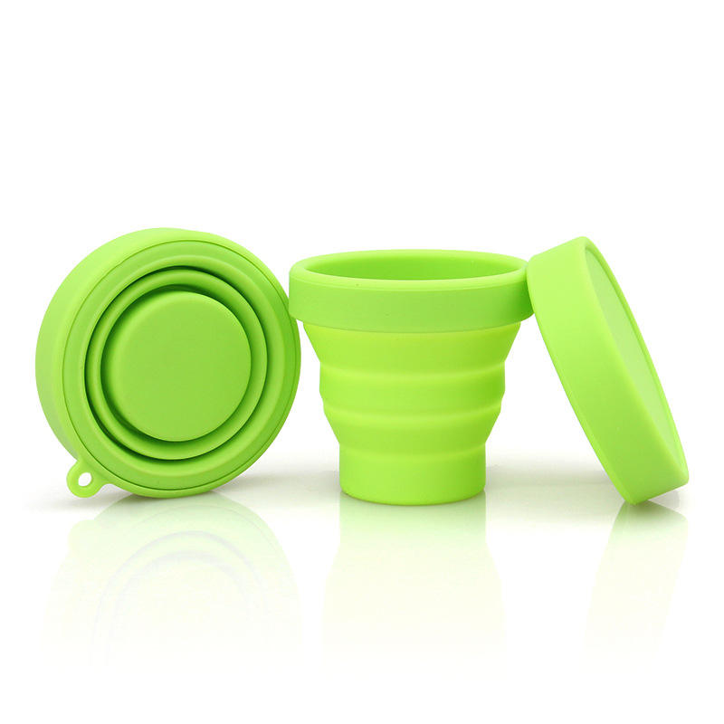 Eco friendly silicone foldable reusable folding coffee cups drinking collapsible cup