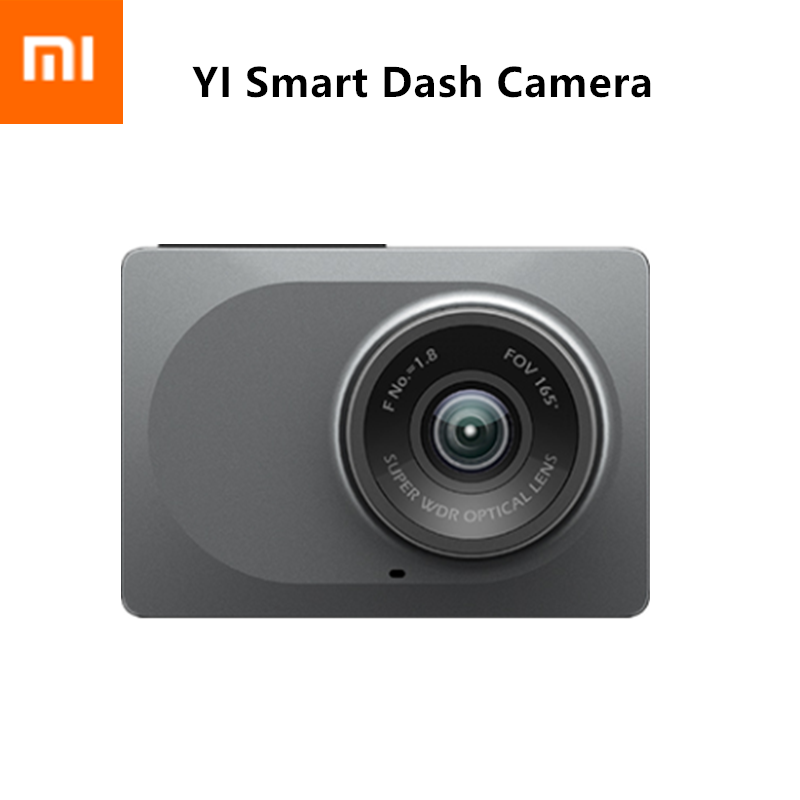 "XIAOMI YI Smart Dash Camera WiFi Night Vision HD 1080P 2.7"" 165 degree 60fps ADAS Safe Reminder Dashboard Camera"