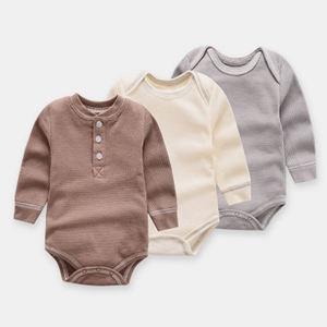 100% cotton long sleeve baby bodysuit girl boy toddler rompers