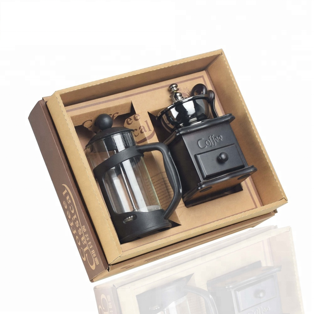 Fazer conjuntos de mesa de Café Imprensa Francesa 350ml Ecocoffee Manual Moedor de Café Doméstico DIY coffee & tea sets T1000