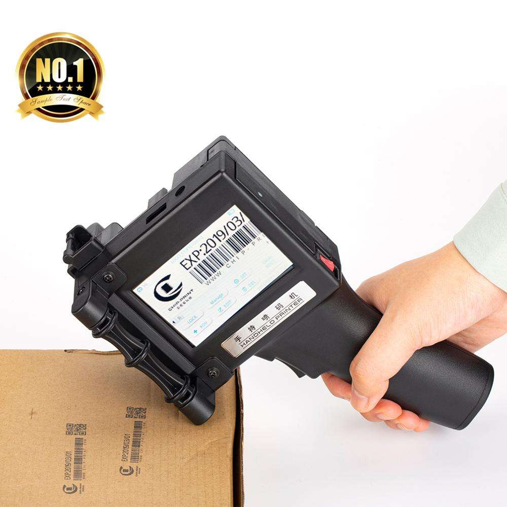 Factory Price HandHeld Inkjet Printer For English Number Qr Bar code Expire date, 300/600dpi eco solvent handheld printer