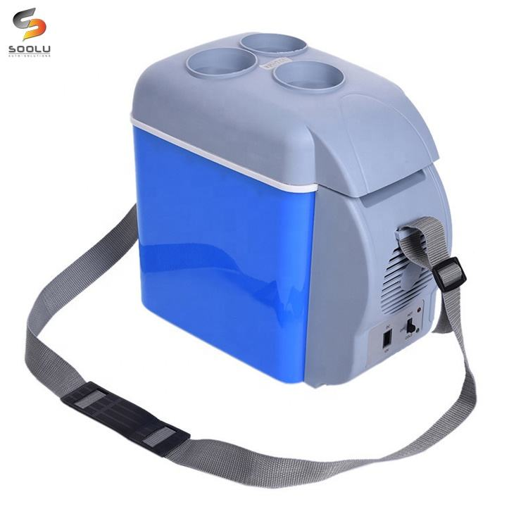 12V 7.5L Multi-Function Portable Mini Warming Cooling Vehicle Refrigerator Freezer Fridge Hot and Cold Double Use For Car