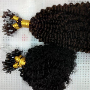 Filipino virgin hair loop ring /microring hair extension grade 12A kinky curly