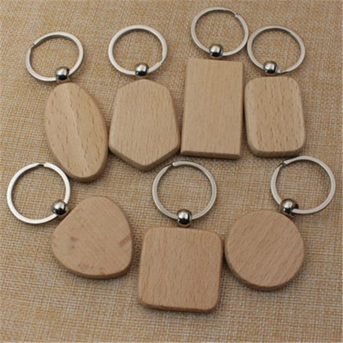 Wooden Key Chain DIY Promotion Customized Wood keychains