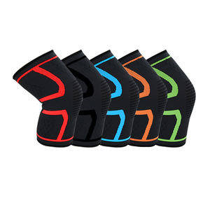 Elasticity Adjustable Stabilising Support for Joint Pain & Reduce Stress Knit Shock Absorption Hinged Gym Knee Pads