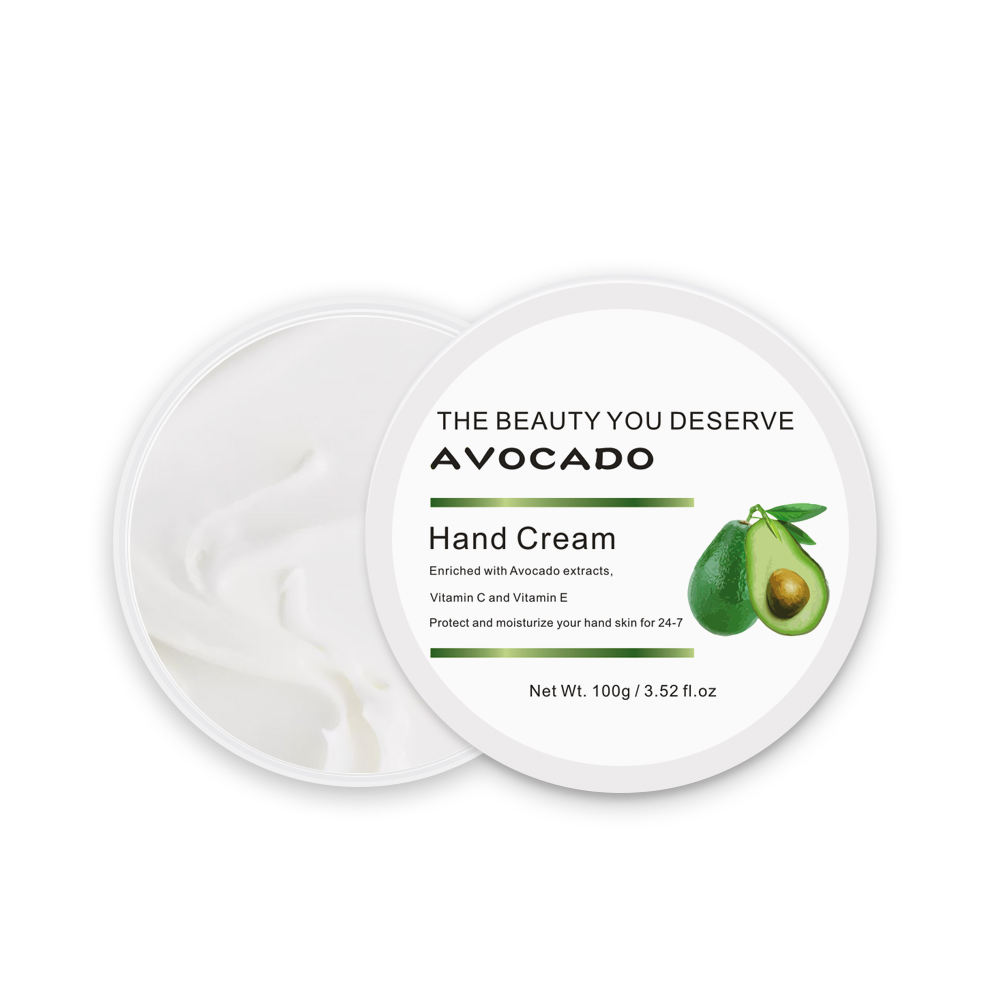 Private Label factory supply glycerol Skin care Moisturizing Whitening Avocado hand cream