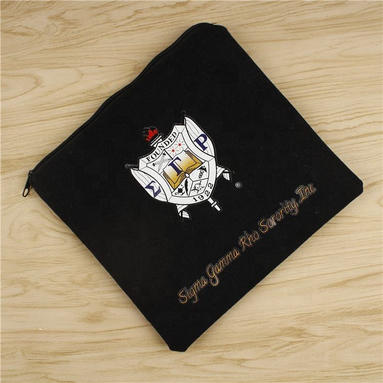 Canvas Black Heat Transfer Printing Custom Makeup Pouch