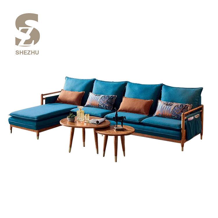 Muebles para el hogar en forma de L esquina sofá de tela Interior sofás de esquina habitación barato moderno conjunto de sofá