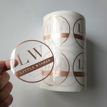 Custom Printing Roll Transparent Labels Clear Gold Foil Self Adhesive Private Sticker