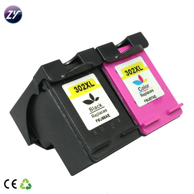 Genuine inkjet cartridge 302 XL deskjet printer cartridges (F6U66AE;F6U67AE)