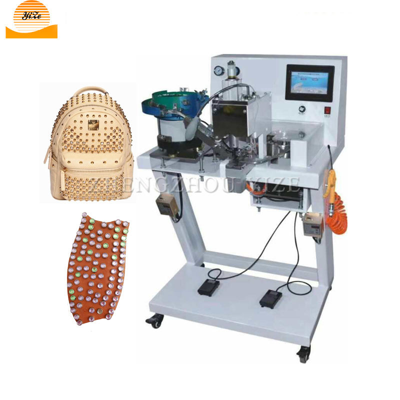 Automatic pearl setting and nail riveting machine Pipe rivet beading machines for clothes leather lace shoes