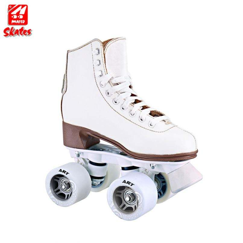 Fashionable Heel PVC Upper Double Row Roller Skate Shoes