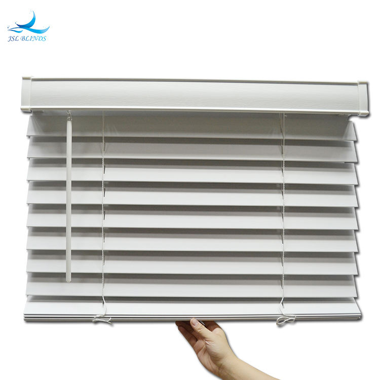 Factory Offer Customize Supplier Cordless Faux Wooden Blinds