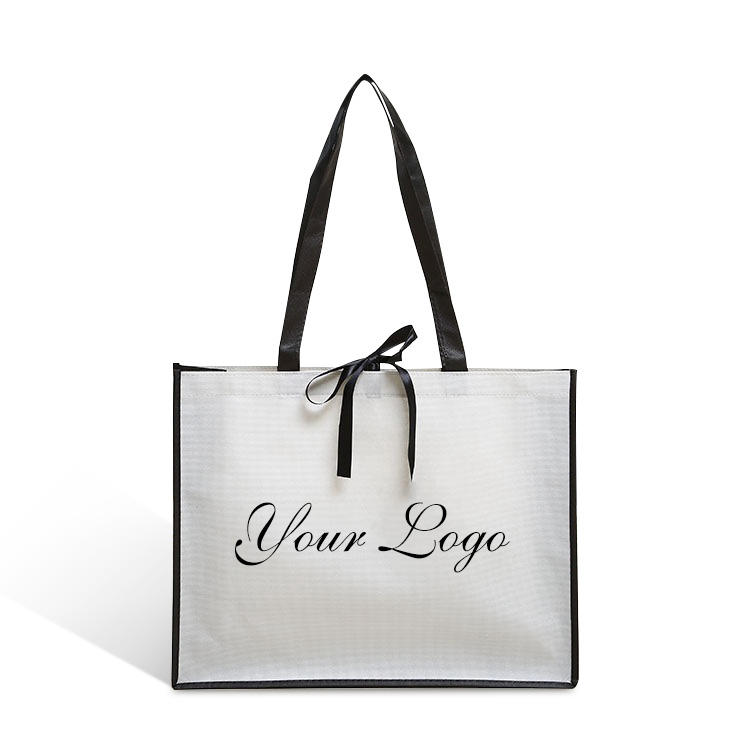 custom printed logo luxury white pp non woven fabric eco bag for shopping gift