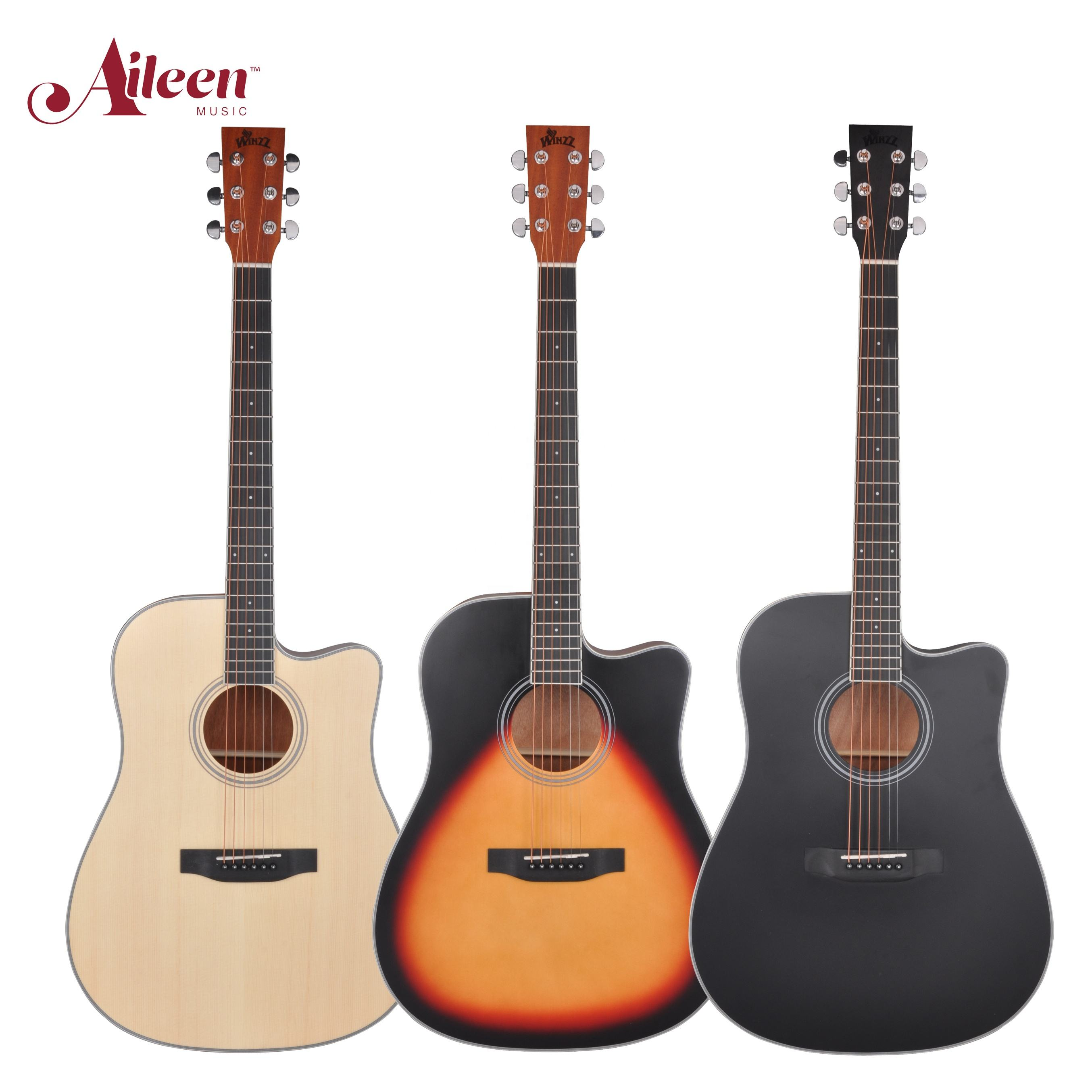 "Aileen Music 41"" cutaway High quality student D shape body acoustic guitar(AF17C)"