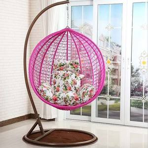 outdoor rattan wicker water drop egg shaped Indoor / Patio Garden Hanging Cany Swing leisure Chair Village Garden Style