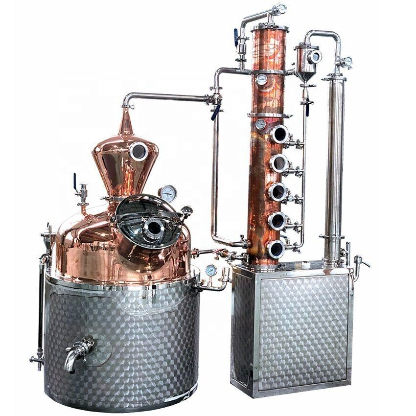 copper distilling machine alcohol production processing wine making equipment