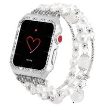 For Apple Watch Band with Case,Fashion Carmelian Strap with Bling Metal Frame