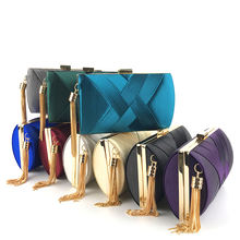 classical evening tassels satin clutches for girls