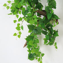 Artificial Ivy Leaves 12 Pack Faux Leaf Hanging Plants Indoor Outdoor Fake Foliage Ivy vine