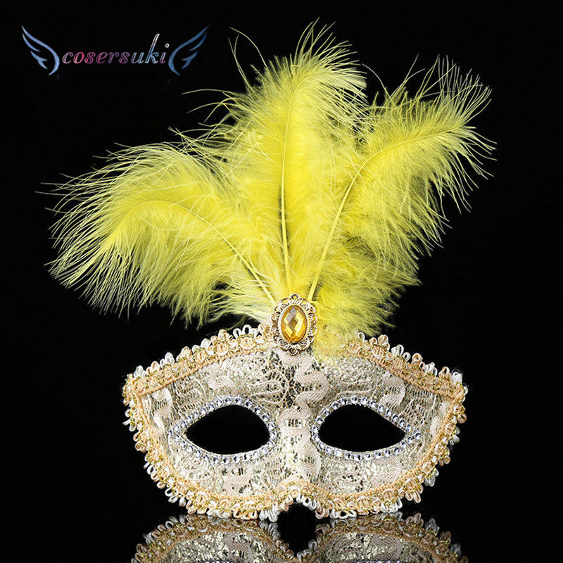 Halloween türkei feder maske zeigen party kleid up dance party männer und frauen party requisiten schönheit dekorative maske
