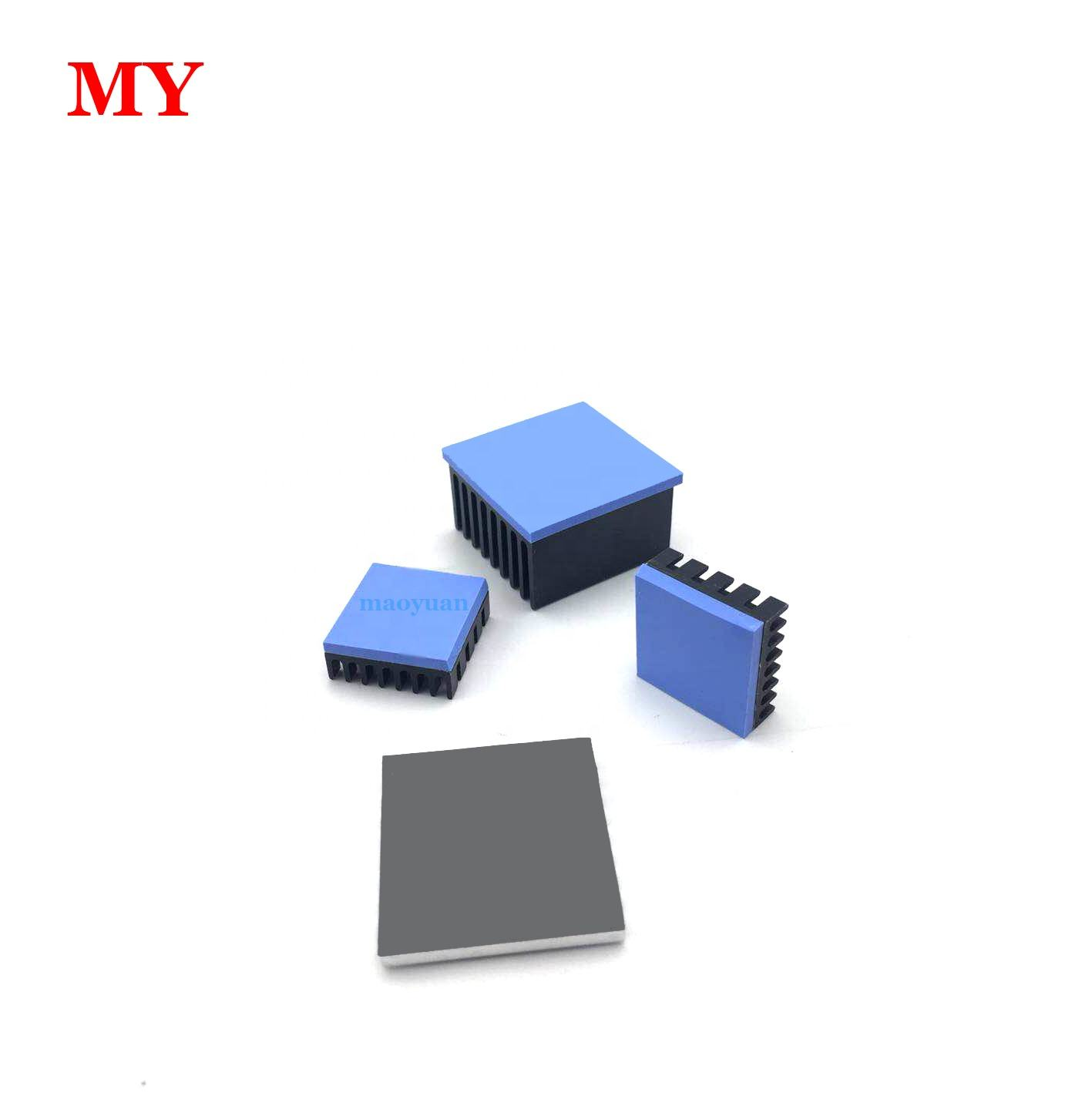 cheap thermal conductivity silicon materials thermal pad for m.2 SSD heatsinks GPU