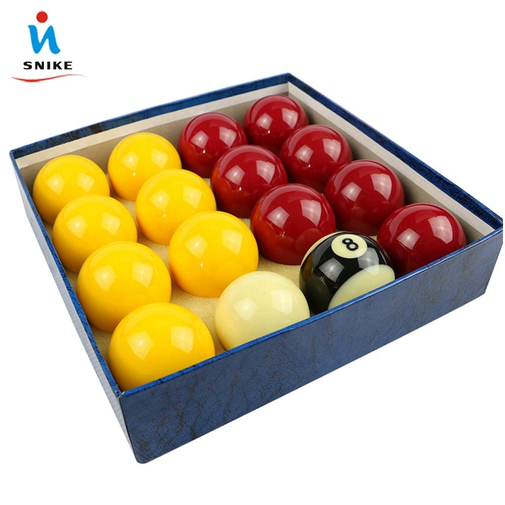 "8A Grade 2-1/16"" Resin Billiard Red And Yellow Pool balls And 8 pool ball"
