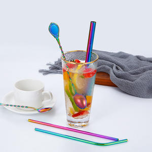 304 Stainless steel Yerba Mate Bombilla Straws Filter Spoons